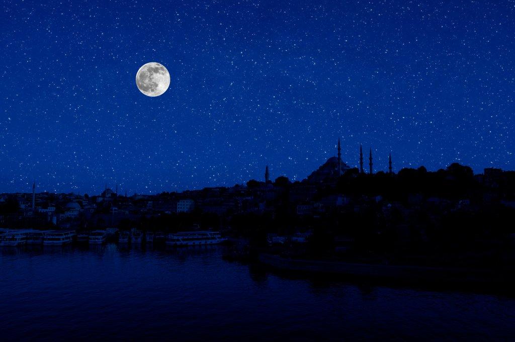 Full Moon and Stars
