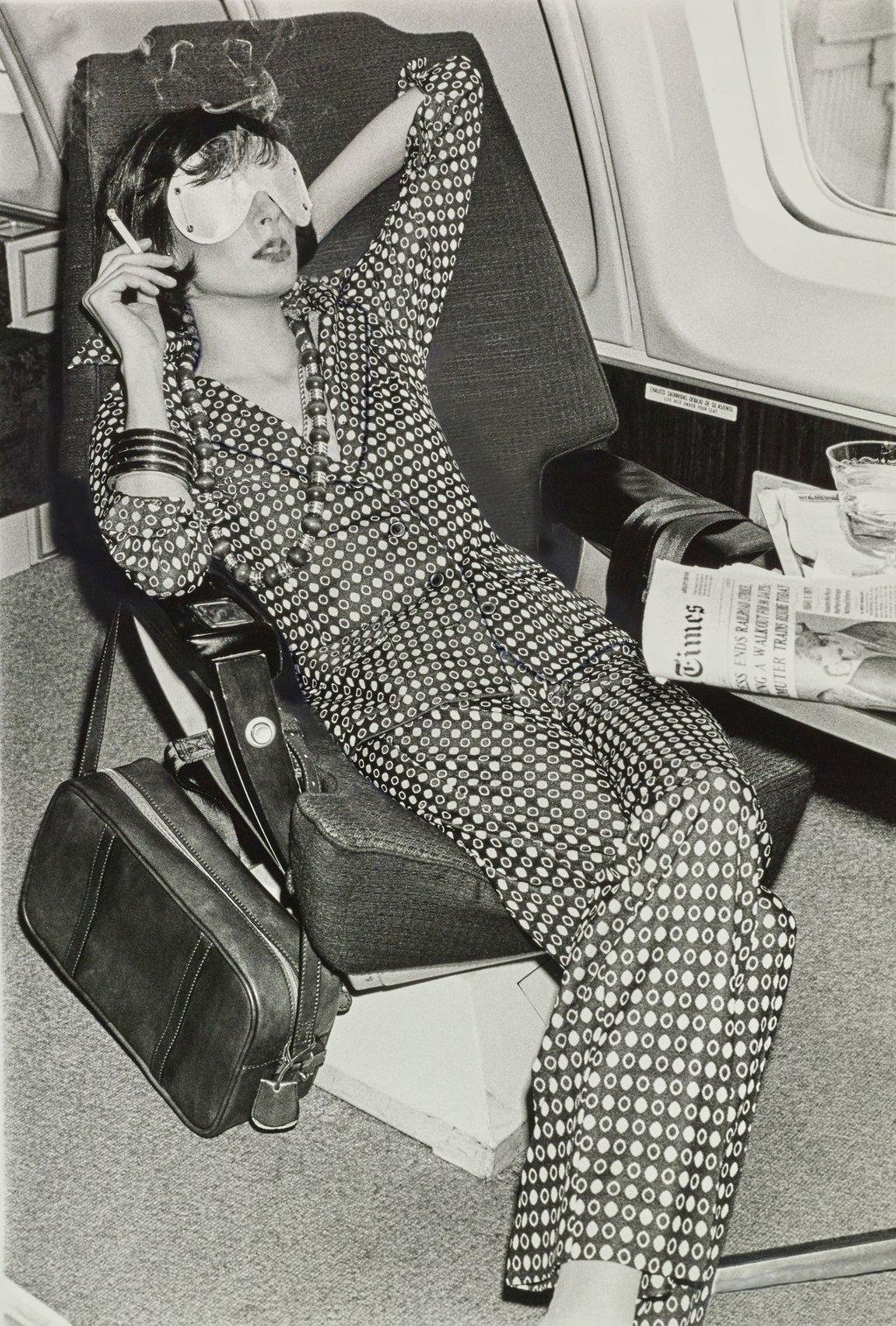 Model Smoking on Plane