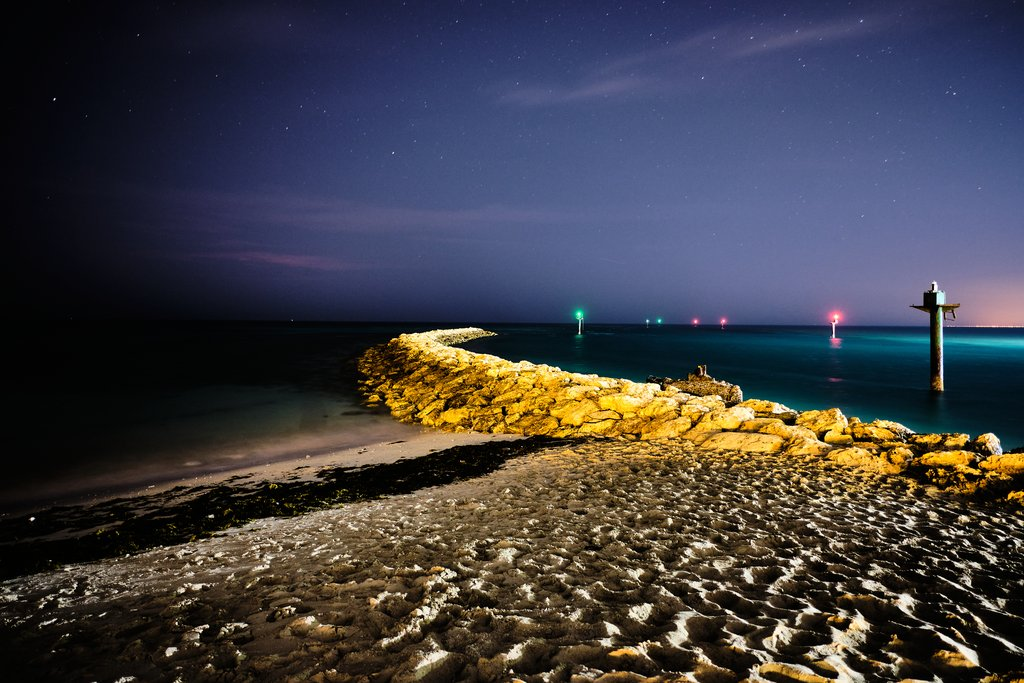 Nighttime Shoreline
